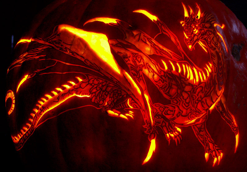 The Pumpkin Wizard • View topic - Full scale Black Dragon pattern ...