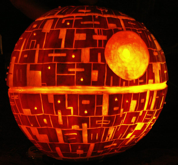 i love to see others carve my patterns but seeing death star carves would be even better - Star Wars Halloween Pumpkin Carving Patterns