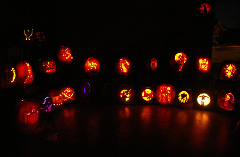 Pumpkin Carving: Display 2008 - 1