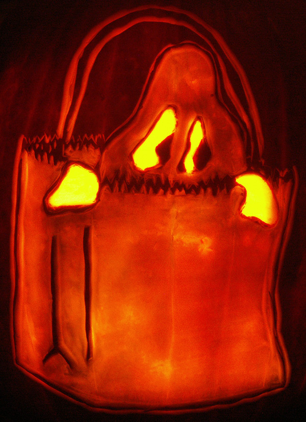 Pumpkin Carving: Ghost Bag - Sarah