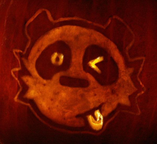 Pumpkin Carving: Panda - Sarah