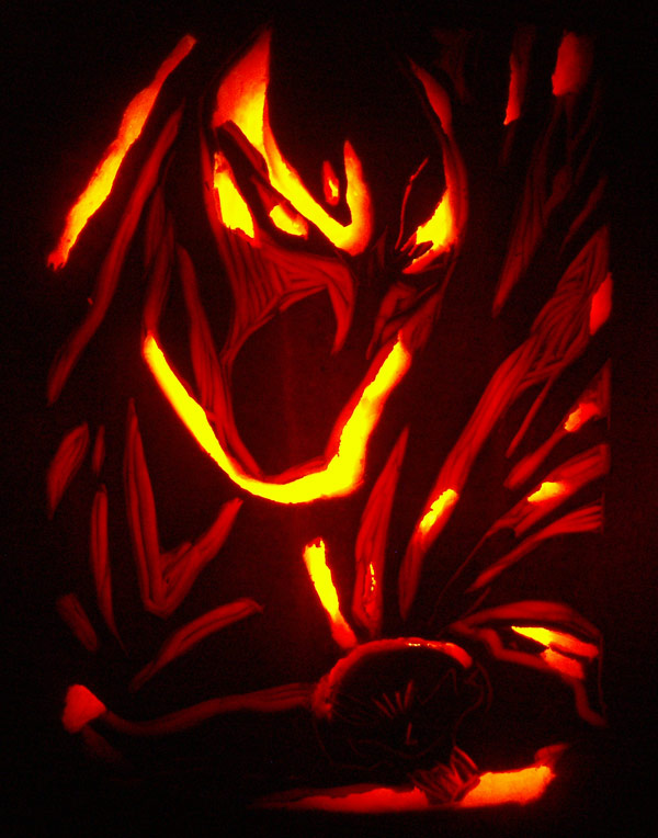 Pumpkin Carving: Spawn - Justin