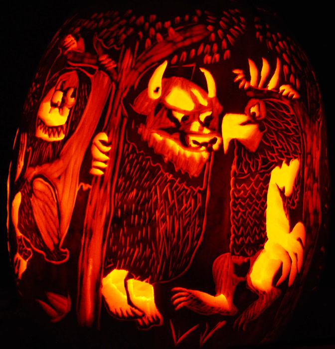 Pumpkin Carving: Where the Wild Things Are 360 degree Carve - Noel