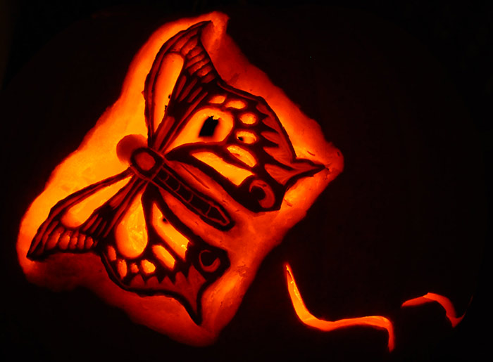 Pumpkin Carving: Butterfly