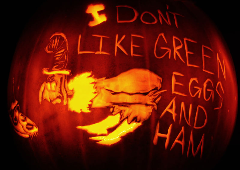 Pumpkin Carving: Green Eggs and Ham - Sarah
