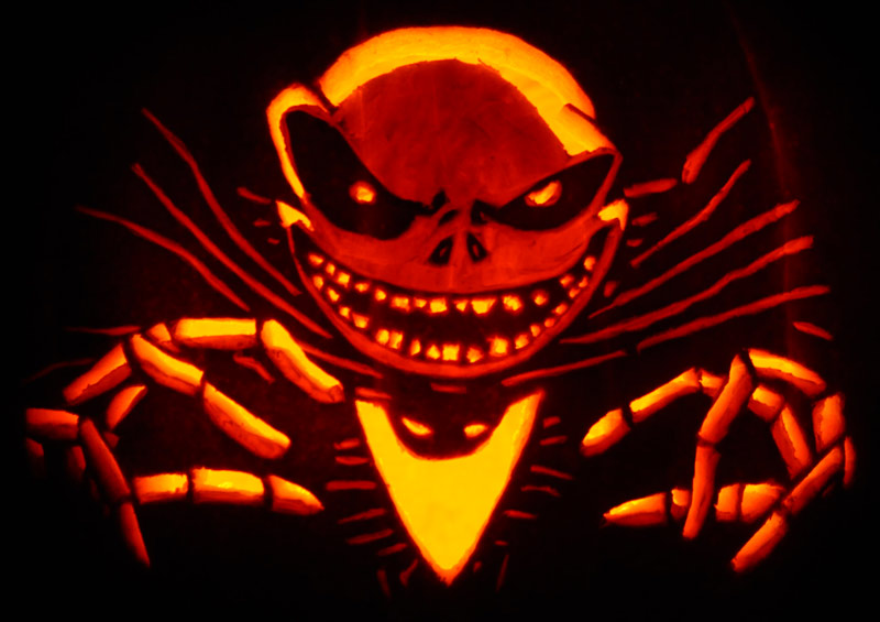 Pumpkin Carving: Jack Skellington - Justin