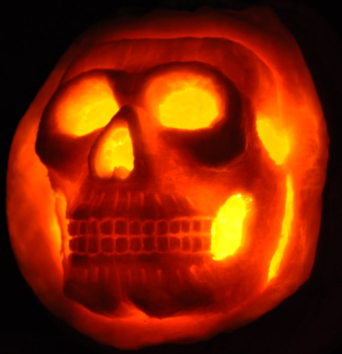 Pumpkin Carving: Skull Sculpt - Joseph