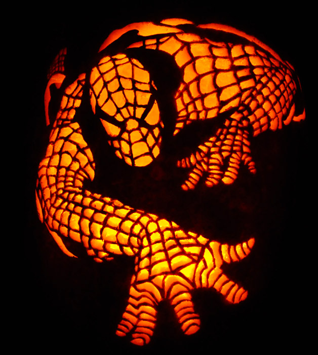 Pumpkin Carving: Spiderman - Joseph