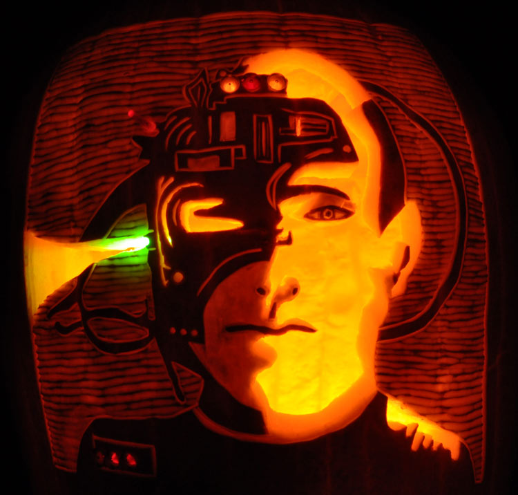 Pumpkin Carving: Locutus of Borg - Star Trek - Noel