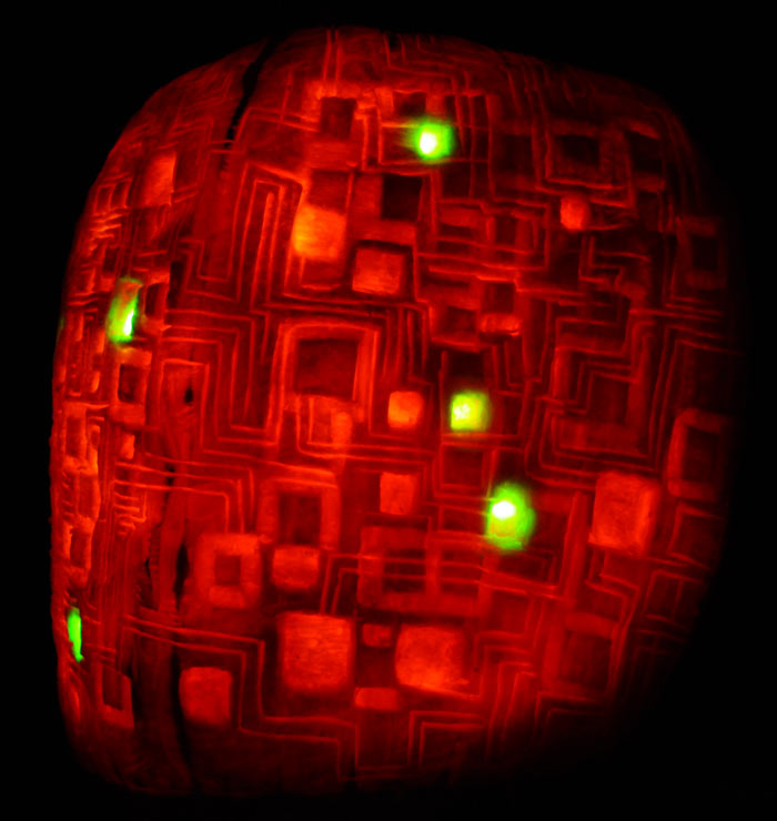 Pumpkin Carving: Borg Cube - Star Trek - Noel