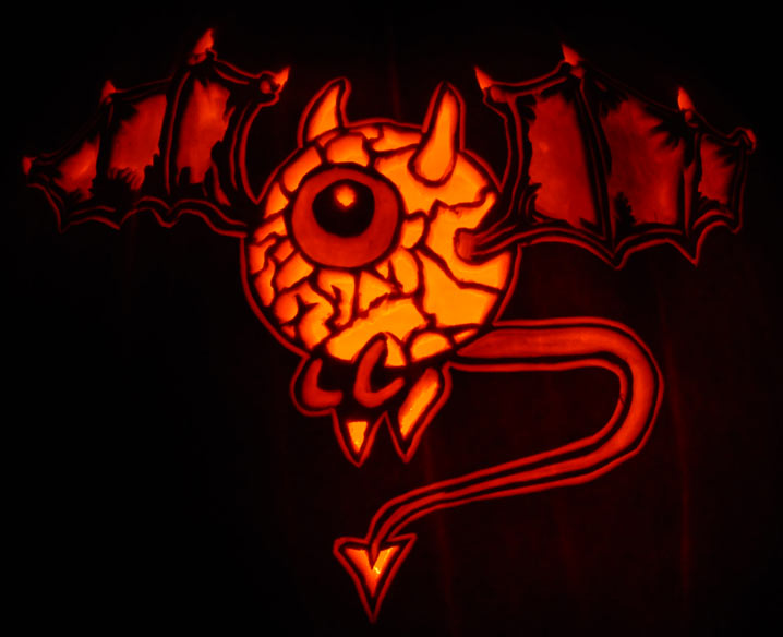 Pumpkin Carving: Flying Eye - Noel