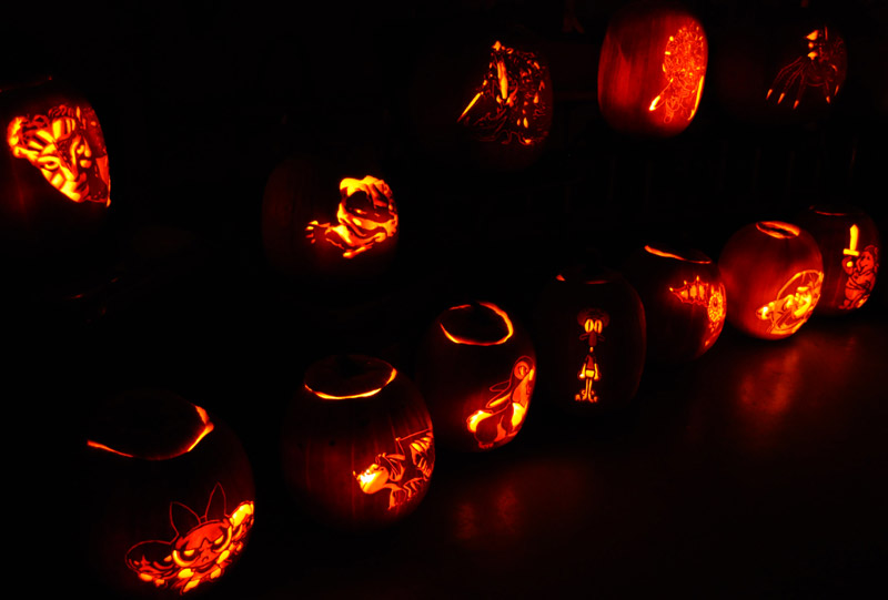 Pumpkin Carving: 2010 Display for Fox News - 1