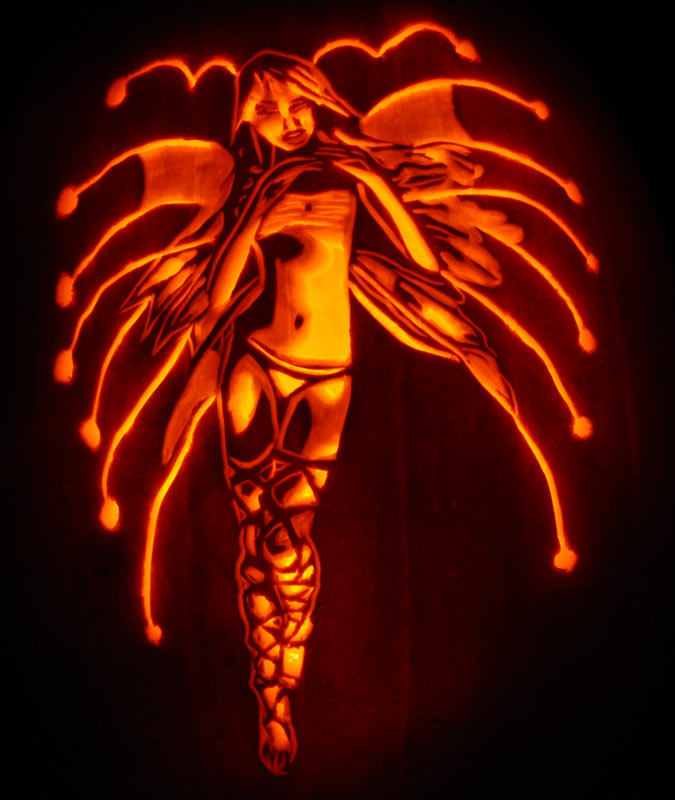 Pumpkin Carving: Sexy Fairy (Hada Luminosa) - Noel