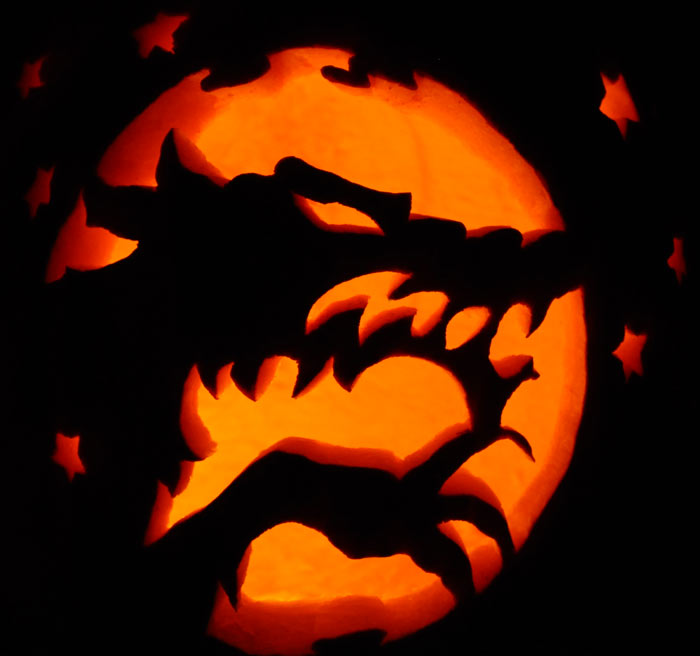 Pumpkin Carving: Werewolf - James