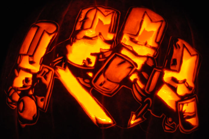 Pumpkin Carving: Castle Crashers - Justin