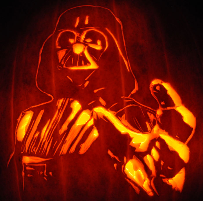 Pumpkin Carving: Darth Vader - Star Wars - Justin