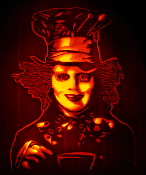Pumpkin Carving: Mad Hatter - Noel