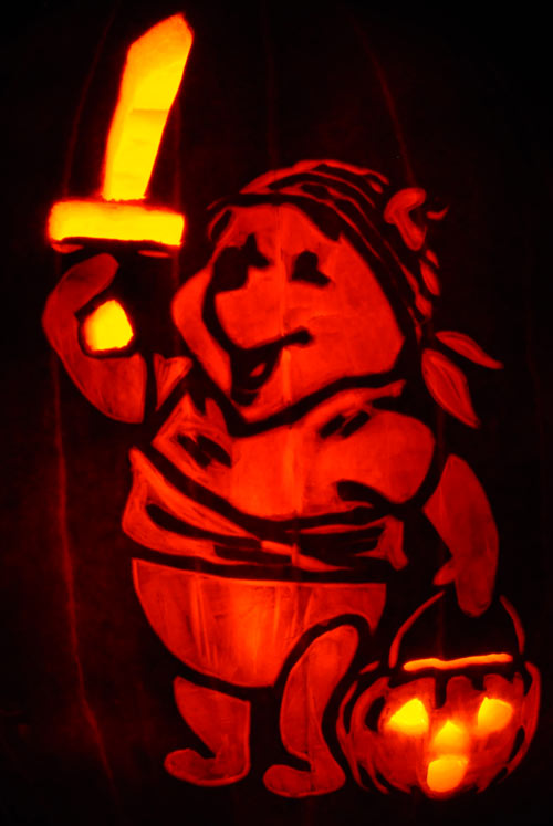 Pumpkin Carving: Pooh Pirate - Nam