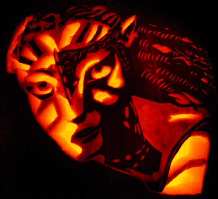 Pumpkin Carving: Neytiri - Avatar - Noel