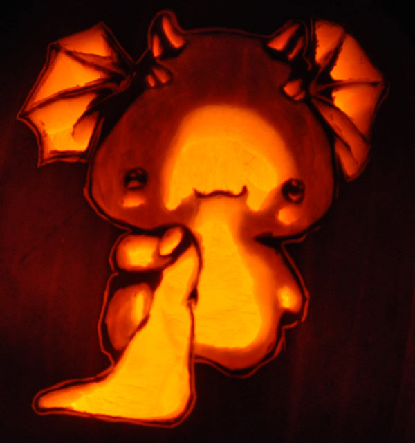 Pumpkin Carving: Cute Dragon - Nam