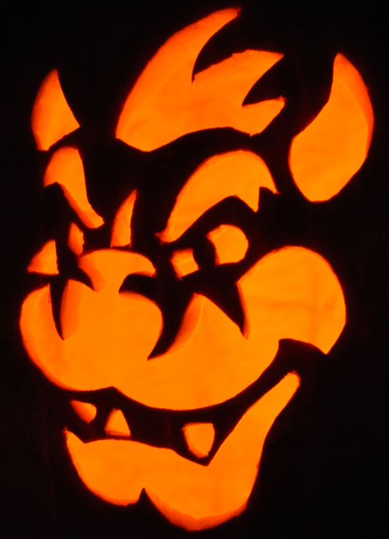 Pumpkin Carving: Bowser - Teresa