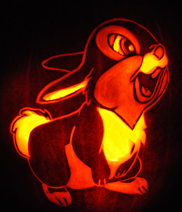 Pumpkin Carving: Thumper - Justin