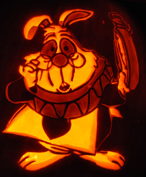 Pumpkin Carving: White Rabbit - Noel