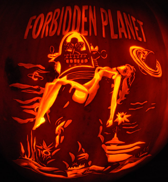 Pumpkin Carving: Forbidden Planet - Noel