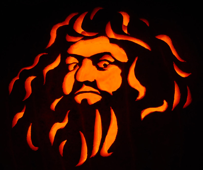 Pumpkin Carving: Hagrid - James
