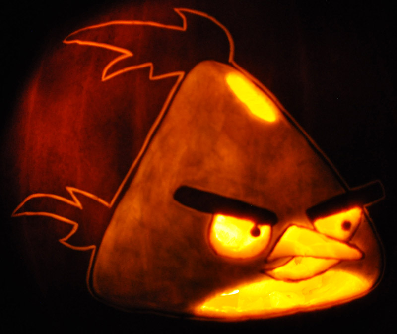 Pumpkin Carving: Angry Birds Yellow Bird - James