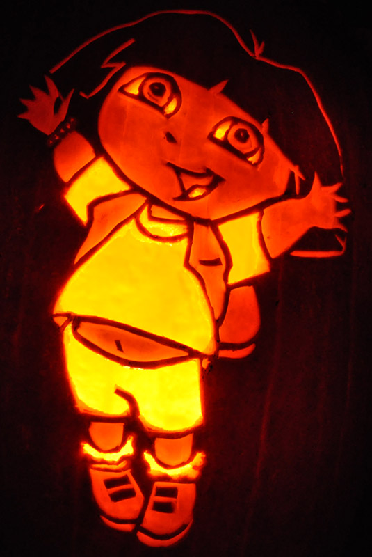 Pumpkin Carving: Dora - Joseph