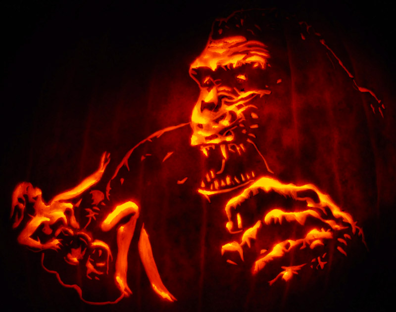 Pumpkin Carving: King Kong - Joseph