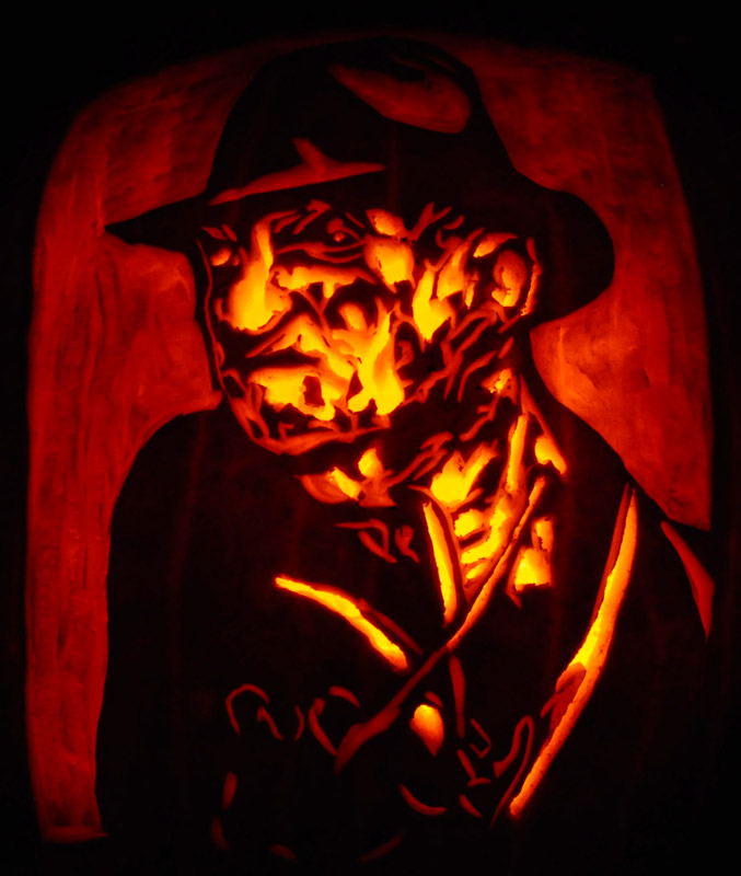 Pumpkin Carving: Freddy Kruger - Justin