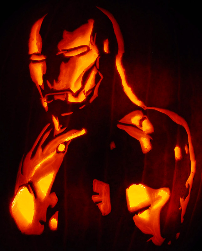 Pumpkin Carving: Iron Man - Justin