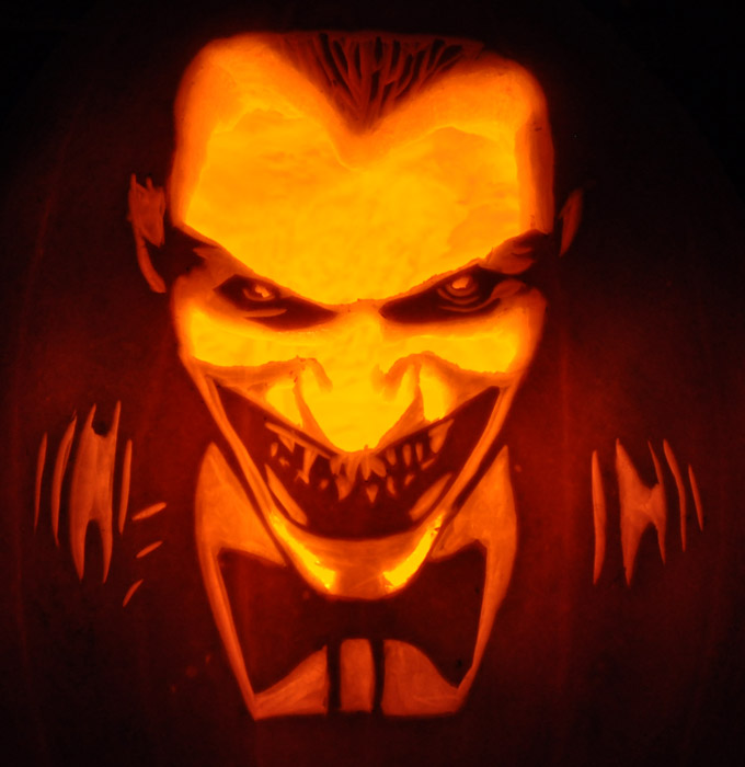 Pumpkin Carving: Joker - Justin