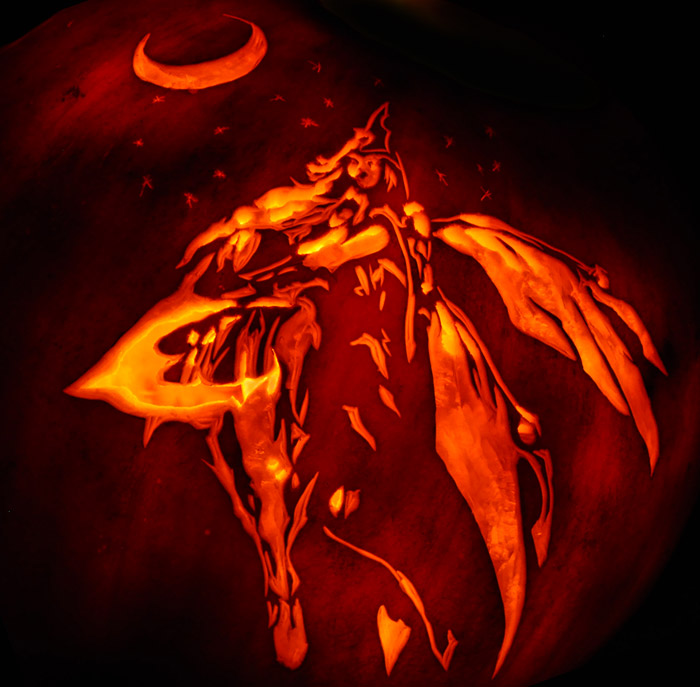 Pumpkin Carving: Moon Queen - Justin
