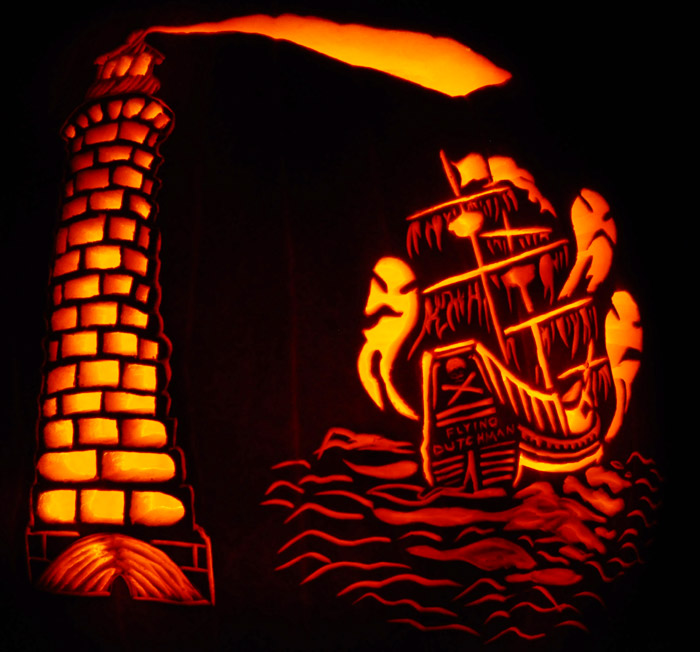 Pumpkin Carving: Flying Dutchman Lighthouse - Noel