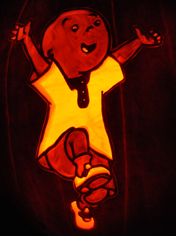 Pumpkin Carving: Caillou - Nam