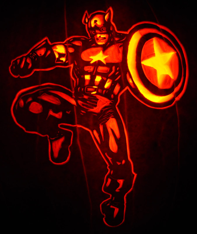 Pumpkin Carving: Captain America - Nam