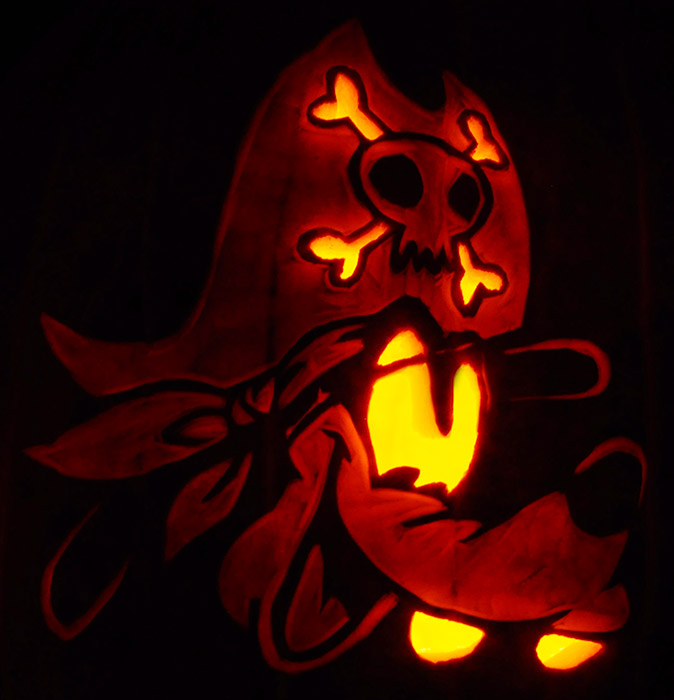 Pumpkin Carving: Goofy Pirate - Nam