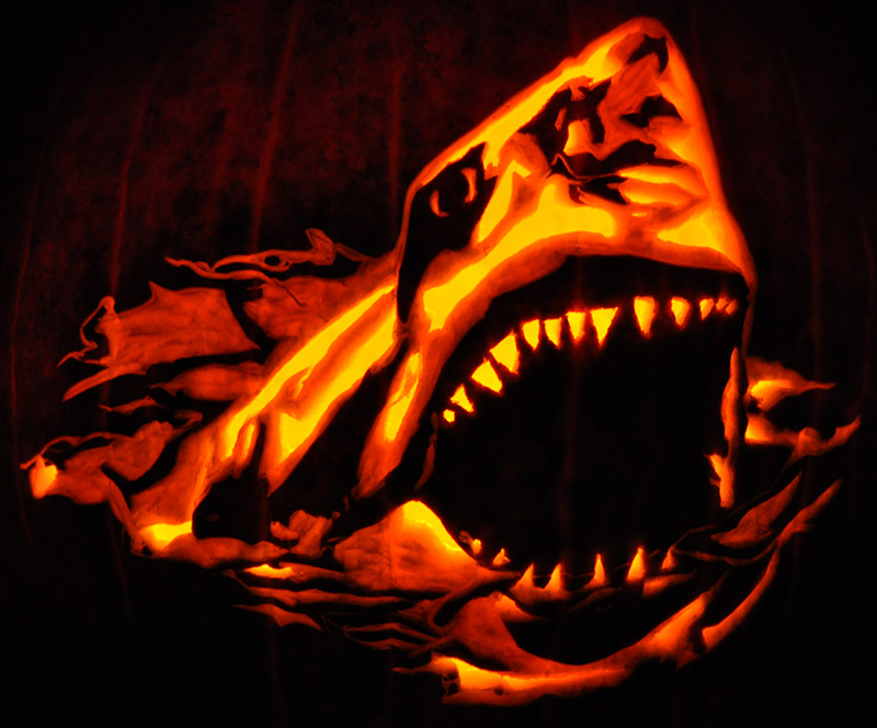 Pumpkin Carving: Jaws - Nam