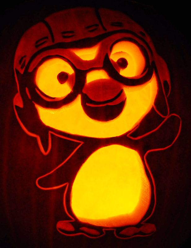 Pumpkin Carving: Korean Penguin - Nam