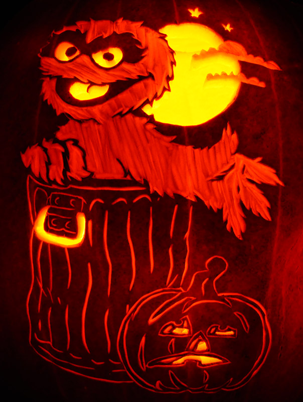 Pumpkin Carving: Oscar the Grouch - Nam