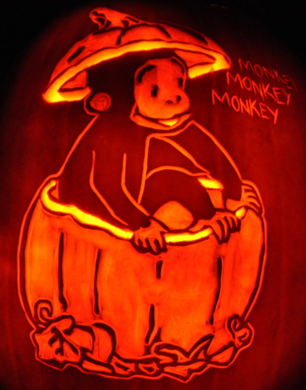Pumpkin Carving: Curious George - Sarah