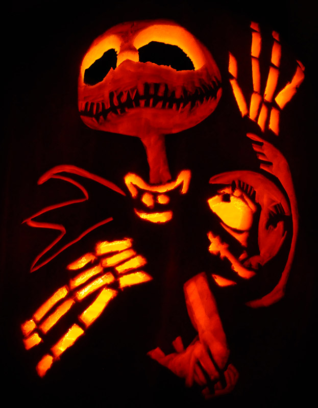 Pumpkin Carving: Jack Skellington - Sarah