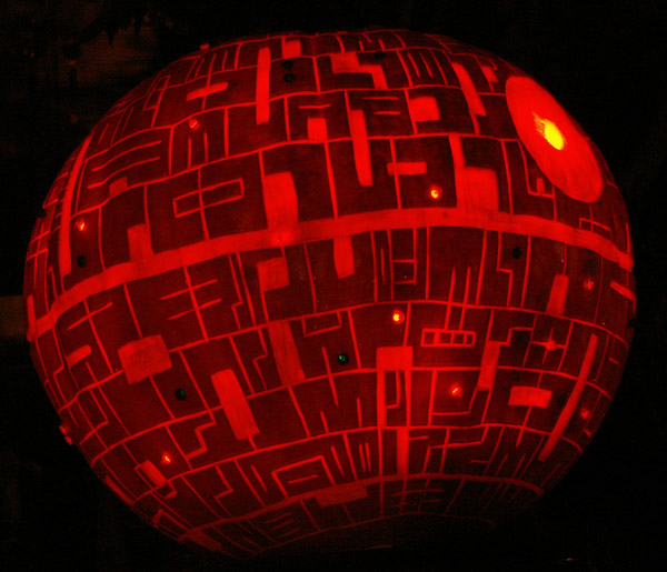 Halloween Movie Pumpkin Drawing.Carving The Death Star