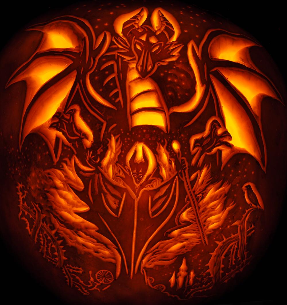 Fantasy Pumpkins Noel S Pumpkin Carving Archive Pinterest